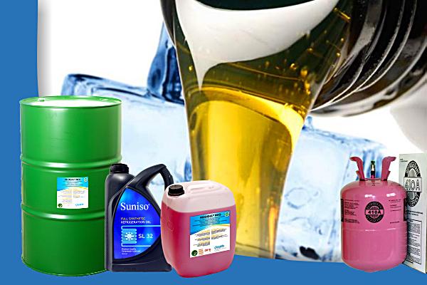Agenți frigorifici, agenți intermediari și uleiuri